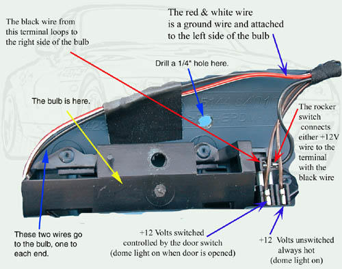 12 volt dome light wiring diagram wiring diagram 12 Volt Solar Wiring-Diagram mirror wiring intructionsthis is an actual photo of the dome light wiring taken from the backside
